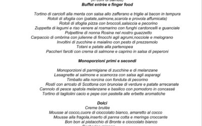 Buffet cena Catering 2017 – Capondanno take away