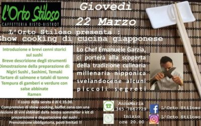 Show Cooking di cucina giapponese 22 Marzo